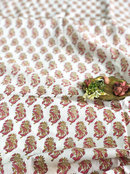 Rose Bud Cambric Cotton Fabric