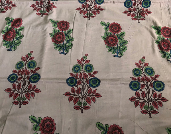 Madder Leela Mul Cotton Handblock Printed Fabric 9 ( 2.25 )