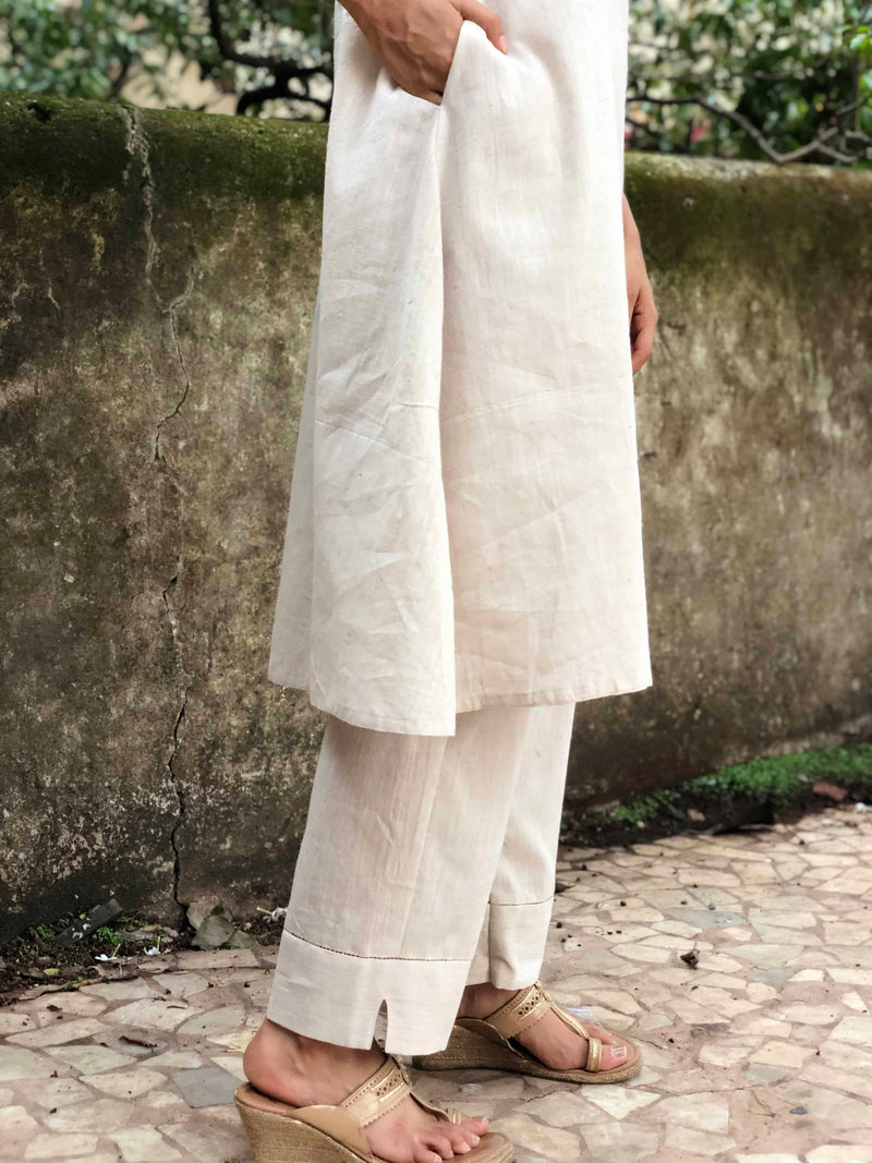 Off White Organic Kurta Pant set
