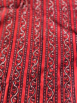 Balotra Tradition Maroon Border Cotton Fabric