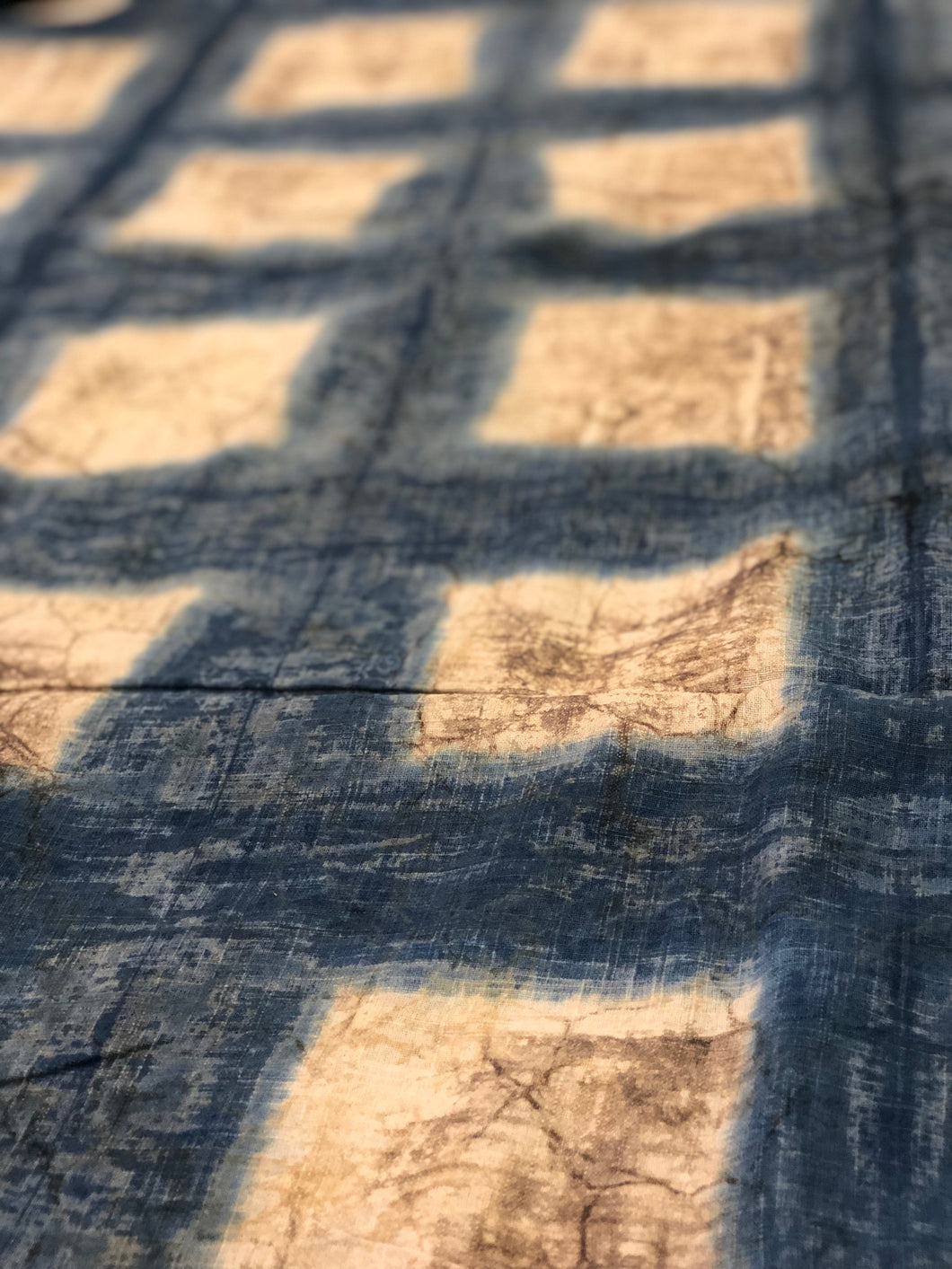 Indigo Cotton Slub Fabric