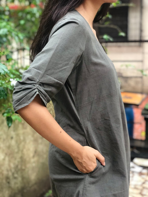 Dark Grey Organic Short Top + Pants