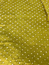 Bandhej Light Green Kurta Fabric(3METER)