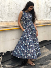 Indigo Kalidar Dress
