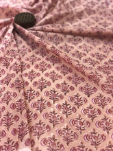 Peach Butta Sanganeri Fabric