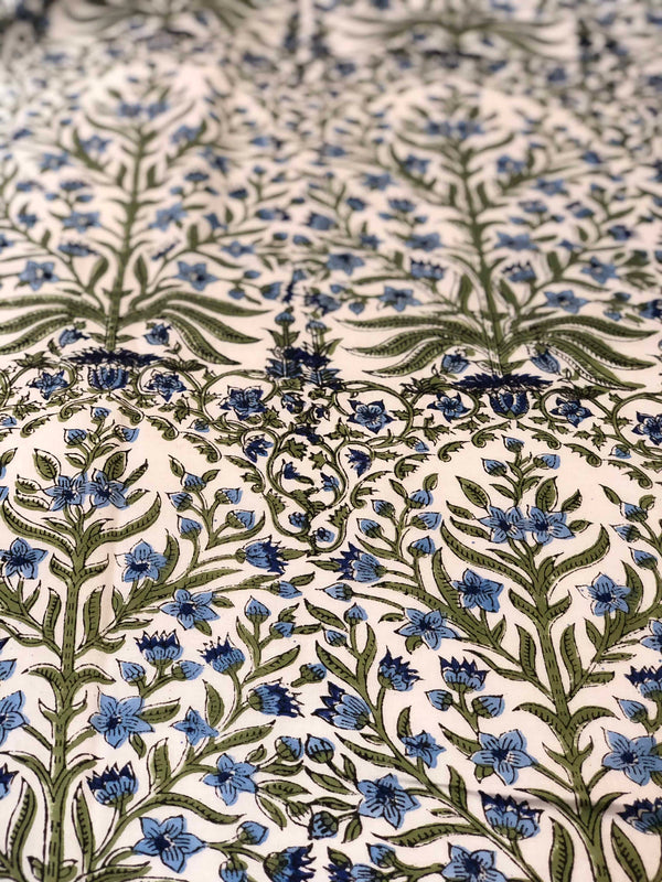 Offwhite Jaal Sanganeri Fabric