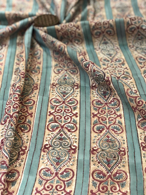 Border Sanganeri Fabric