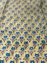 Yellow  Small Butti Sanganeri Fabric