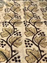 Brown Trail Block Print Fabric