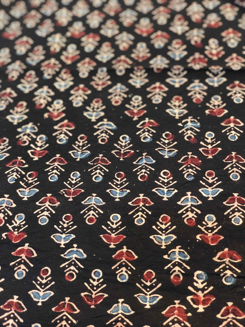 Black Small Butti Fabric