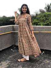 Peaches-and-Cream Kalamkari Flared Kurta