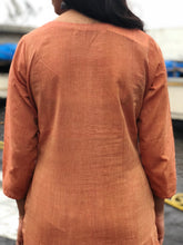 Twilight Orange Mul Kurta