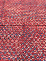 Maroon + Indigo Butti Block Print Fabric