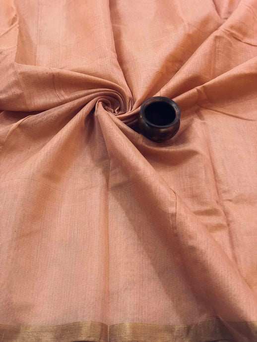 Pale Pink Tissue Chanderi Fabric