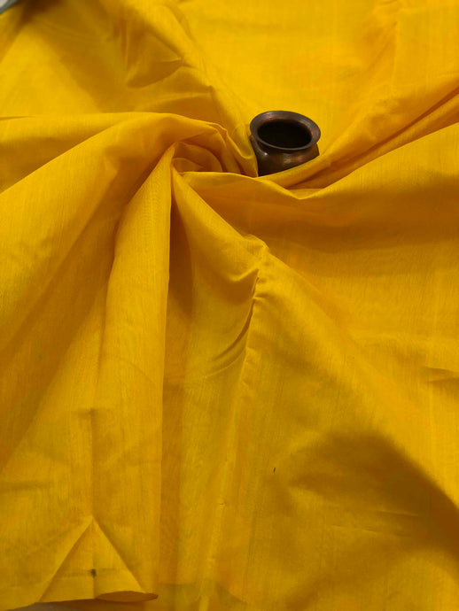 Bright Yellow Tissue Chanderi Fabric