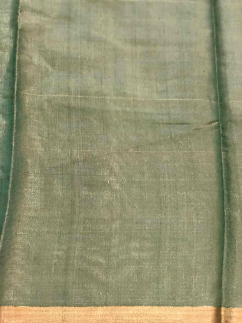 Green Silk Tissue Chanderi Fabric