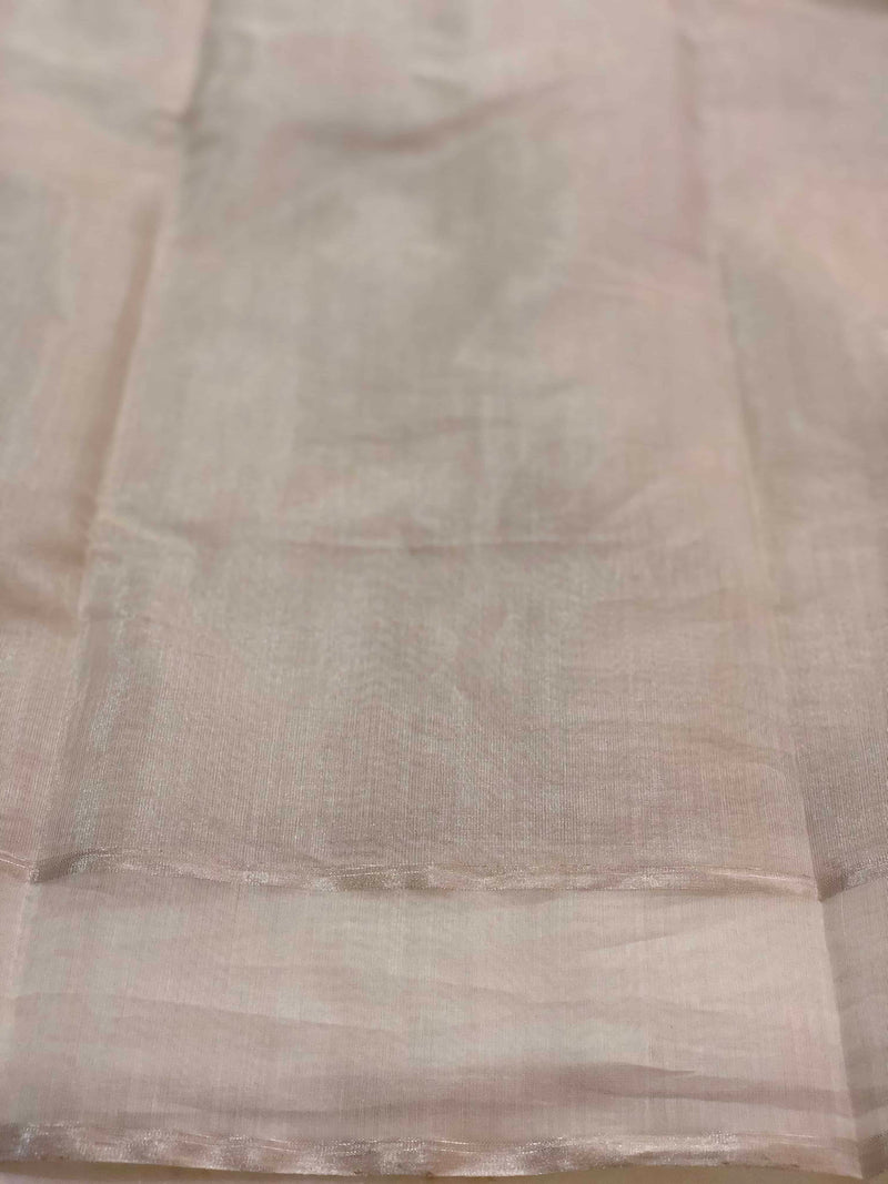 Silver Tissue Chanderi saree