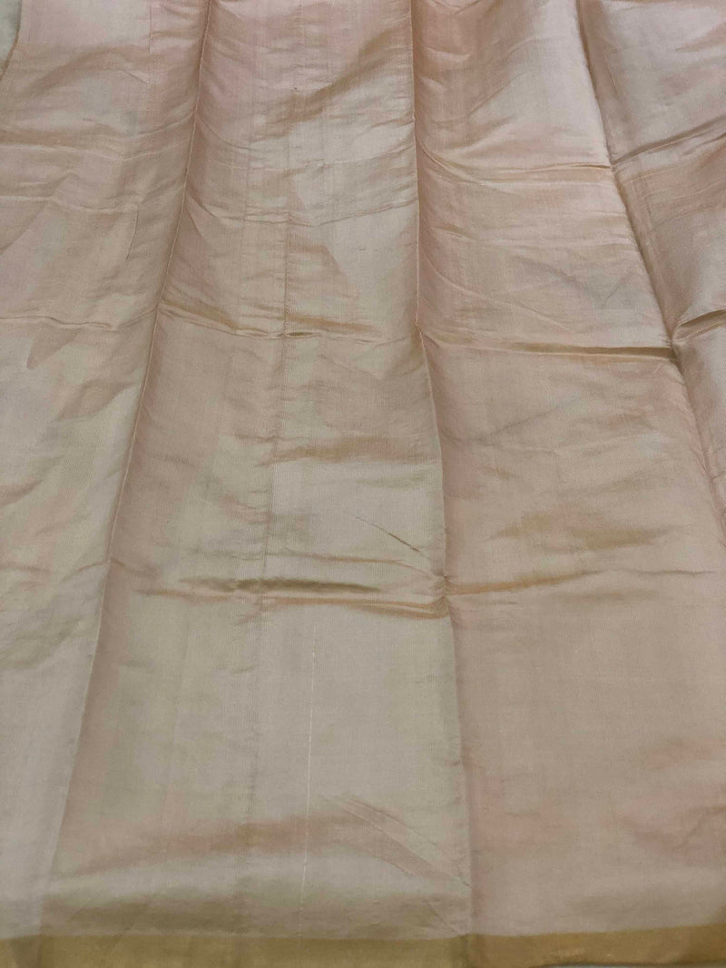 Pastel Pink Silk Tissue Chanderi Fabric