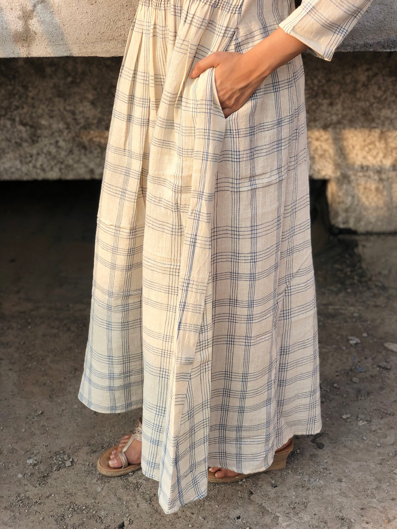 Kala Cotton Natural Dyed Striped Dress