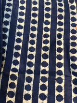 Indigo Dot Trail Cotton Fabric
