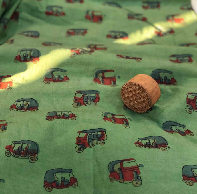 Madder Auto Block Print Fabric