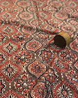 Coffee Ajrakh Block Print Fabric