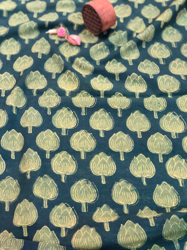Henna Kamal Dabu Cotton Fabric