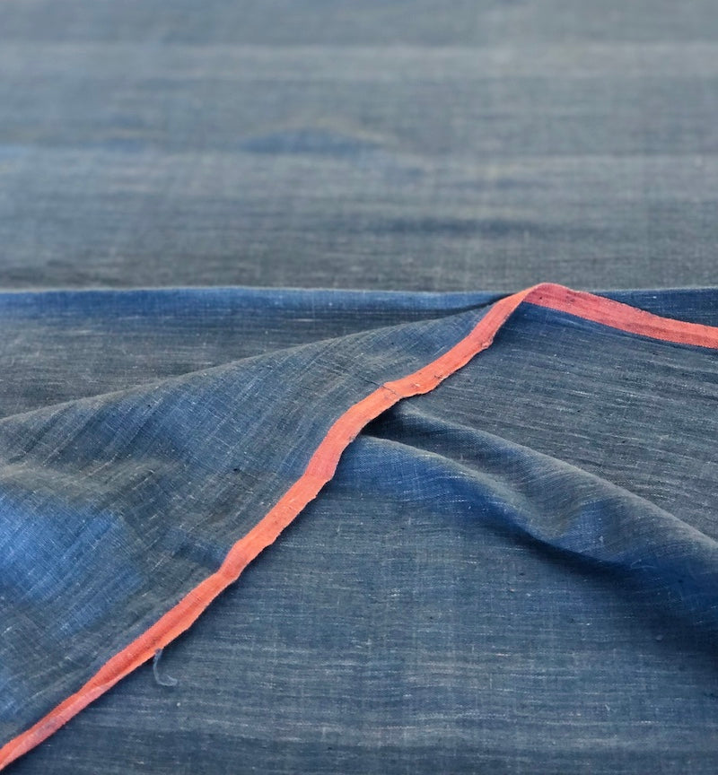 Organic & Natural Dyed Light Indigo Handloom Fabric