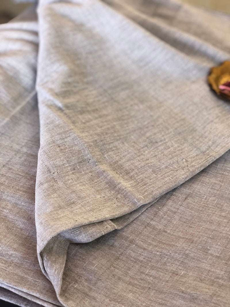 Organic & Natural Dyed Light Grey Handloom Fabric