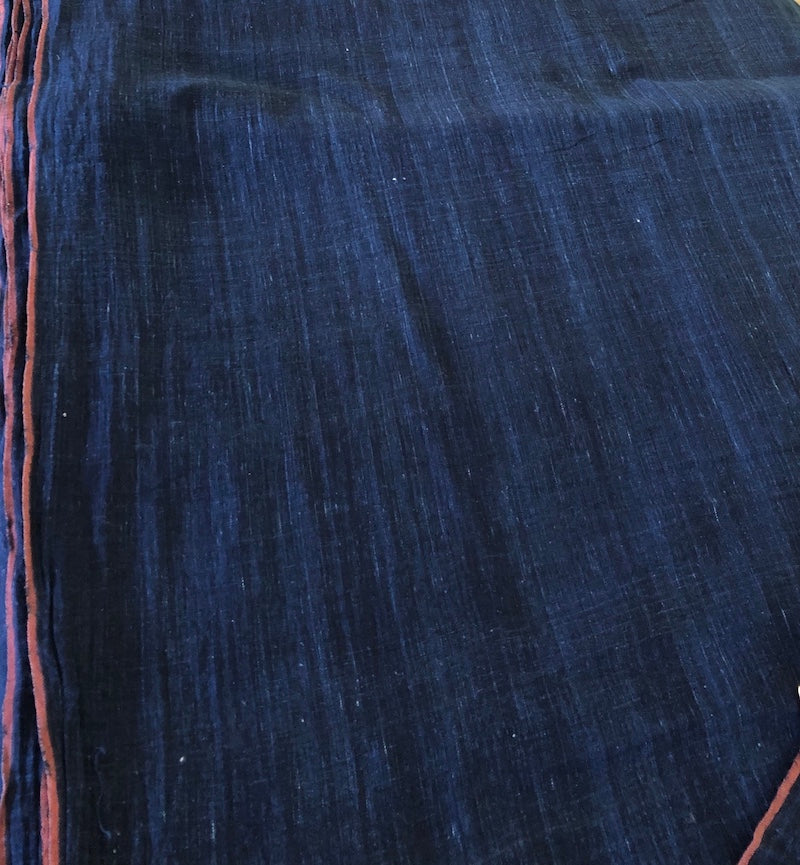 Organic & Natural Dyed Deep Indigo Handloom Fabric