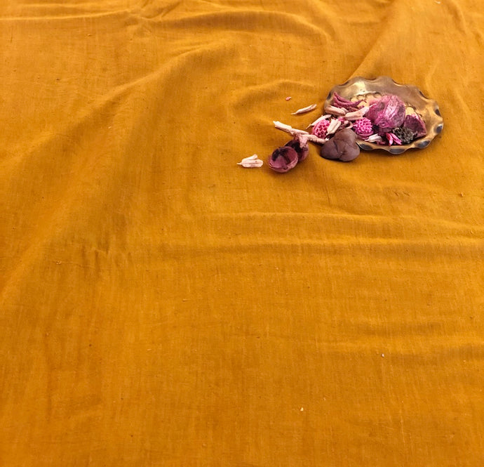 Organic & Natural Dyed Turmeric Handloom Fabric