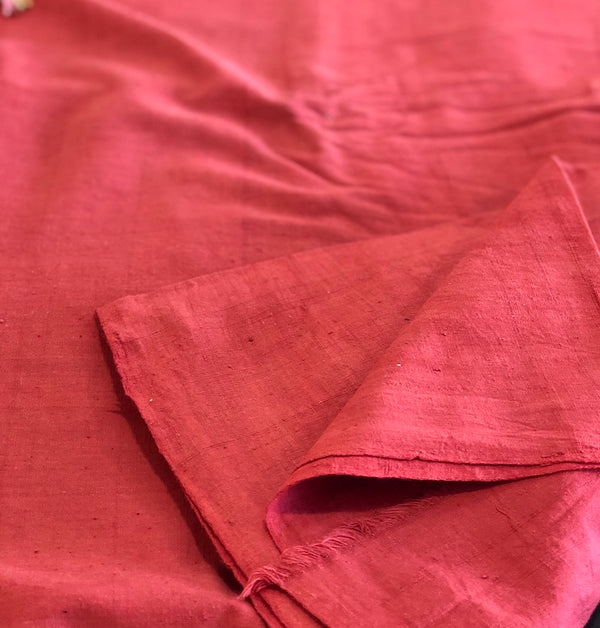 Organic & Natural Dyed Rust Handloom Fabric
