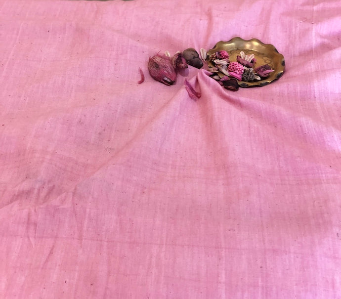 Organic & Natural Dyed Rose Pink Handloom Fabric