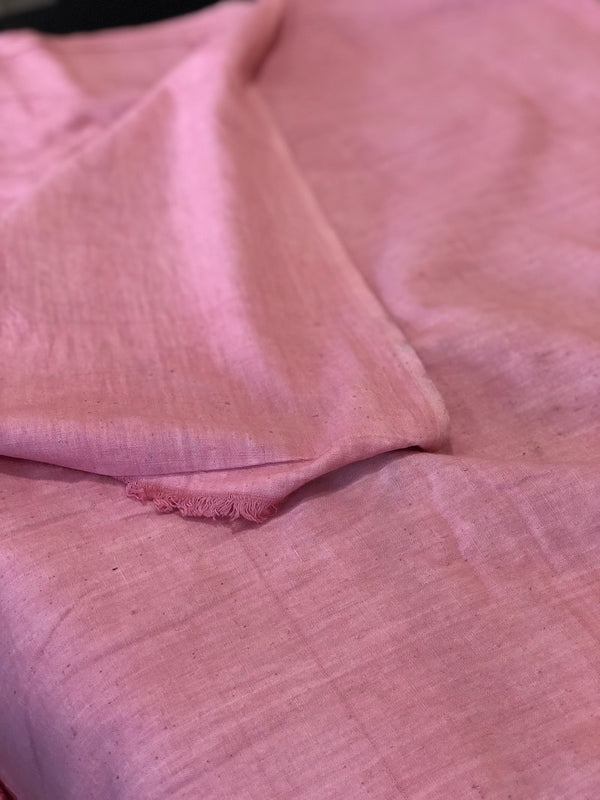 Dyed Rose Pink Handloom Fabric