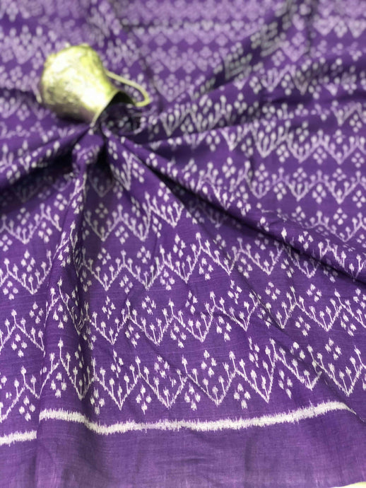 Purple Ikkat Fabric