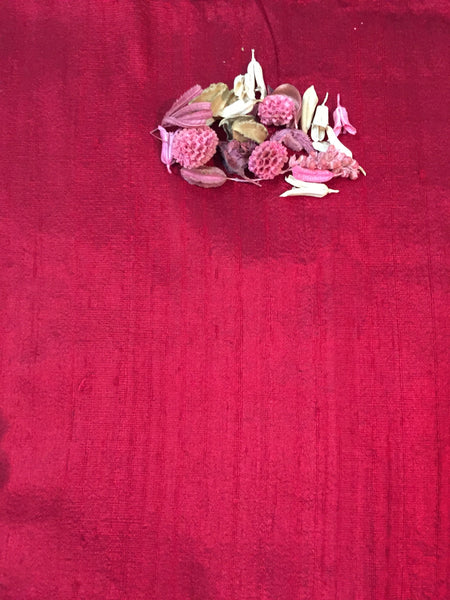 Madder Raw Silk Fabric