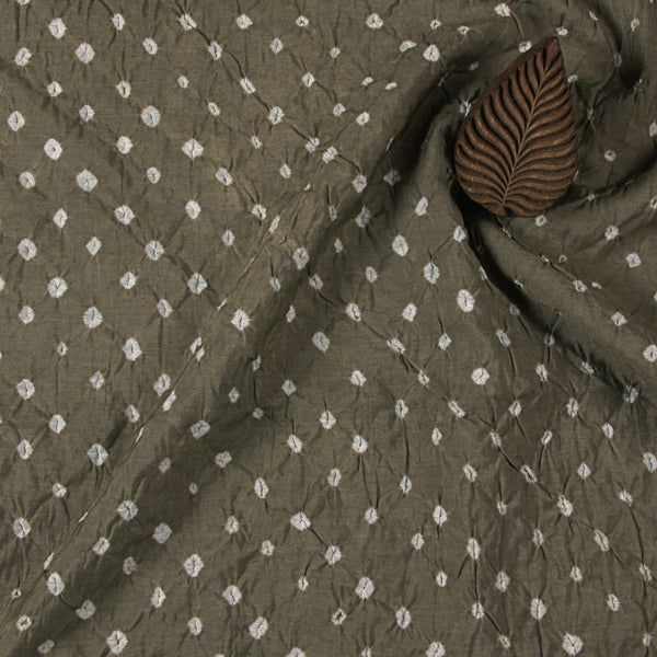 Earthy Bandhej Chanderi Fabric