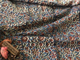 Kalamkari Indigo Bail Mul Cotton Fabric