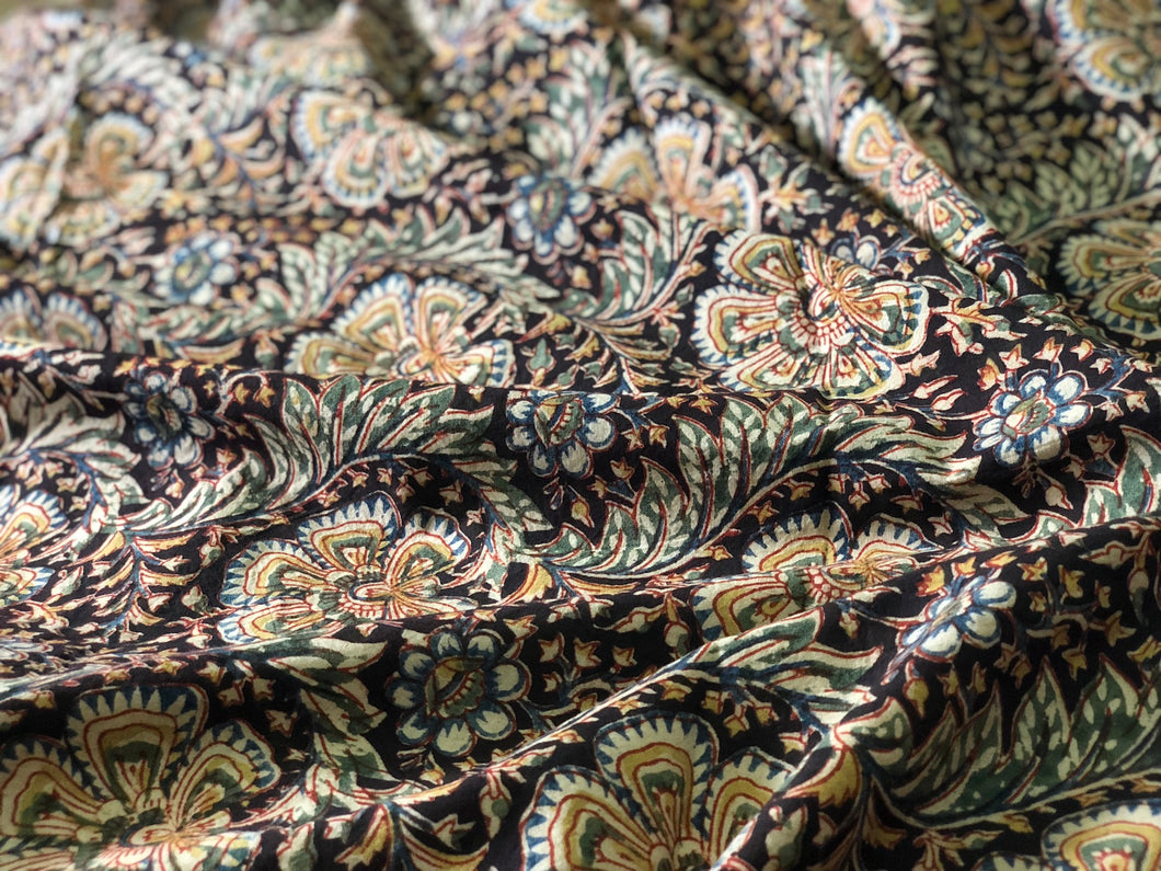 Kalamkari Bahar-e-Phool Cotton Fabric