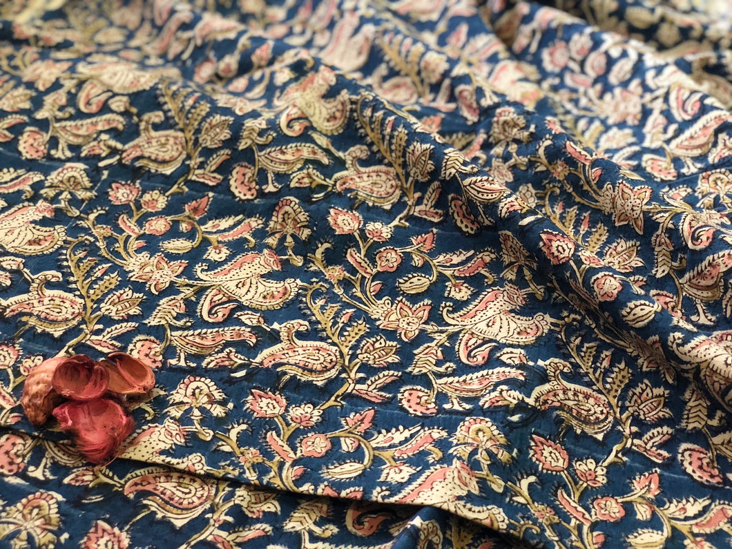 Kalamkari Indigo Noor Cotton Fabric