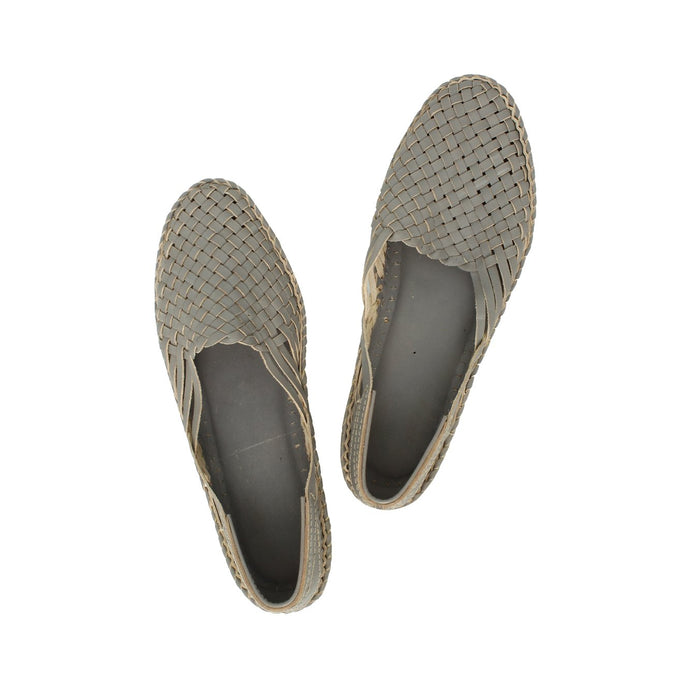 Grey Kolhapuri Shoe