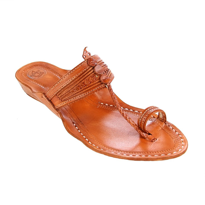 Tan Colour Braided Chappal