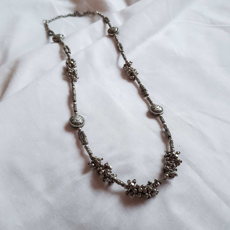Silver Ball Chain Necklace