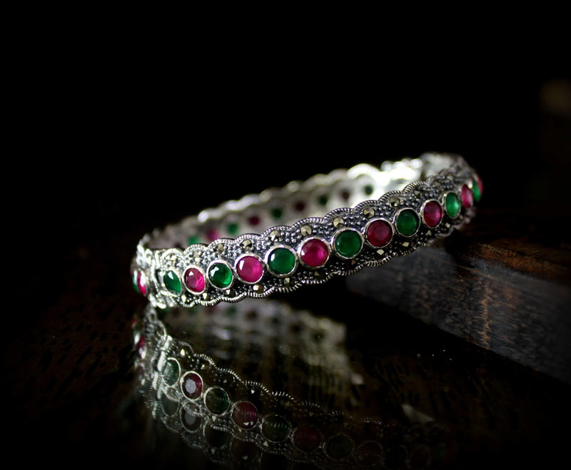 Swiss Marcasite Bracelet Multicolored - Freesize