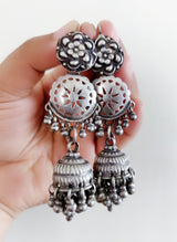 Vintage Silver Earrings - 4