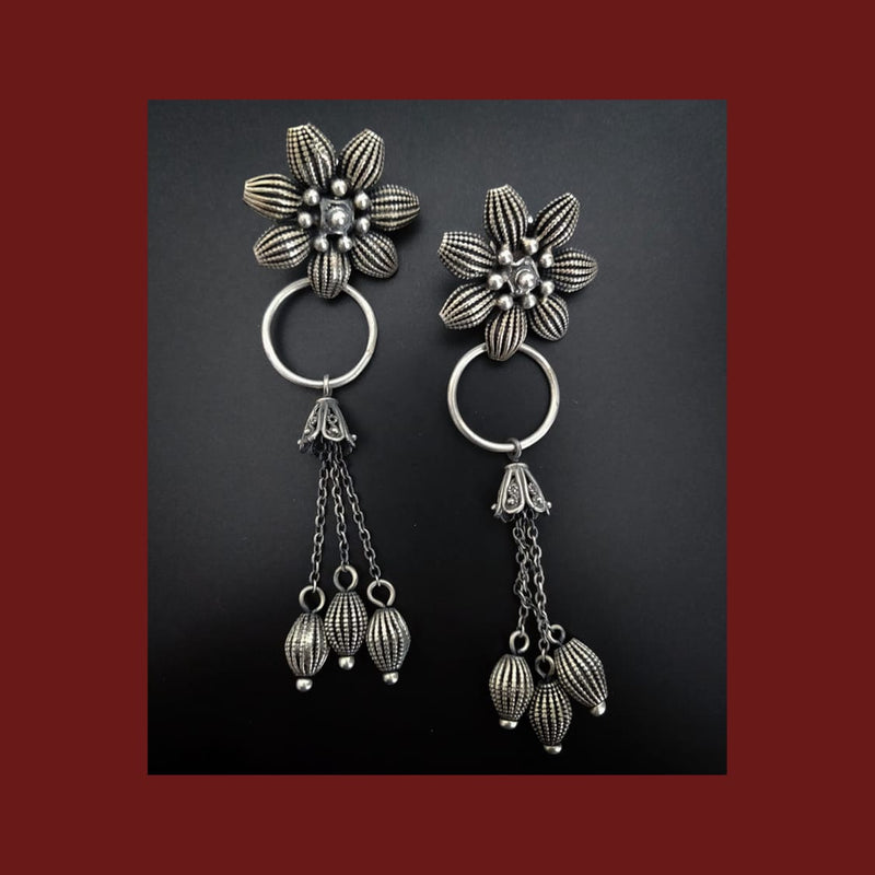 Long Flower Danglers - 1
