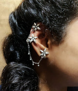 Flower Ear Cuffs with Ghugri