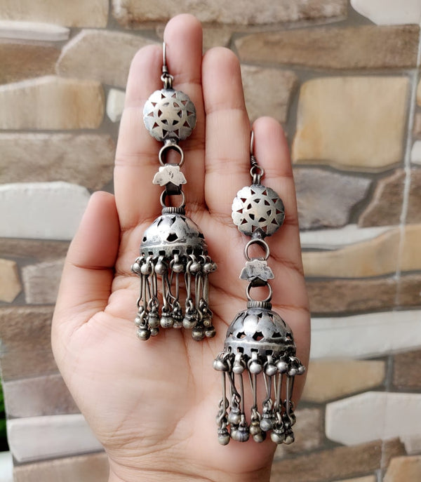 Shoulder Duster Tribal Jhumkas - 2