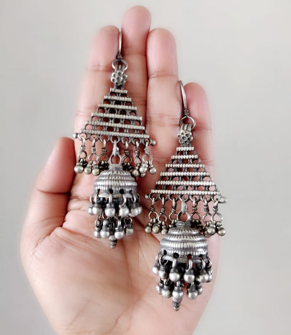 Shoulder Duster Tribal Jhumkas - 3