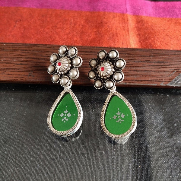 Green Glass Danglers